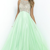 High Neck Beaded Ball Gown by Blush