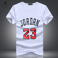 Clothing Jordan 23 Men T-shirt Swag T-Shirt Print Men T Shirt Homme Fitness Camisetas Hip Hop Tshirt Men