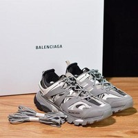 Balenciaga Men's Leather Tess.s.Gomma Sneakers Shoes-DCCK