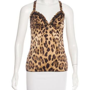 Leopard & Lace Camisole