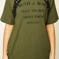 Truth And Roses Lace-Up Tee