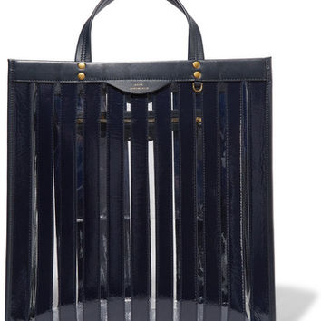 Anya Hindmarch - Multi Stripes patent-leather and vinyl tote