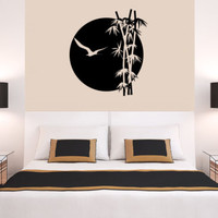 Wall Decal Vinyl Sticker Bamboo Flowers Tree Forest Plants Nature r718