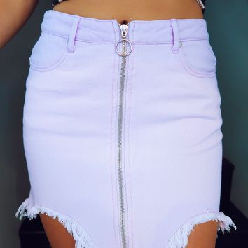 Born To Be Wild Skirt: Dusty Lavender
