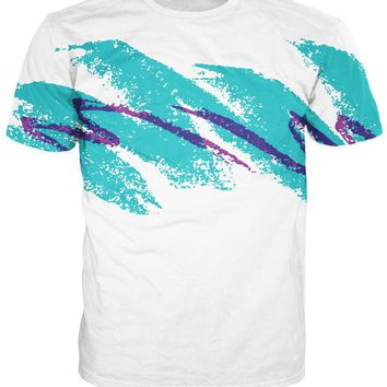 90s Paper Cup Solo Jazzy Pattern T-shirt