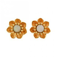 Love, Adorned : MICHAEL SPIRITO 14K GOLD AND OPAL FLORA STUD EARRINGS - MSP10*