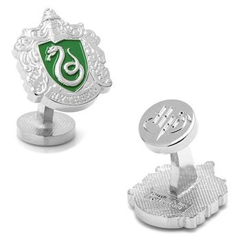 Harry Potter Slytherin Crest Logo Men's Cufflinks