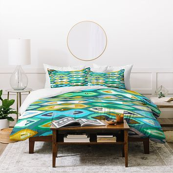 Sharon Turner Sagar ikat Duvet Cover
