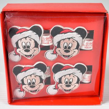 Disney Mickey Mouse Napkin Rings - Christmas Collection