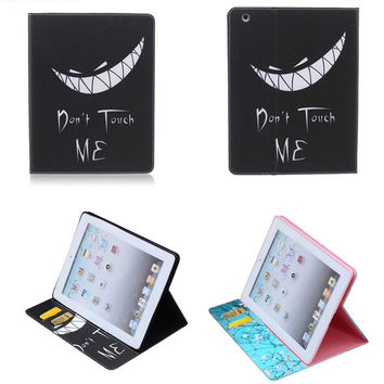 BF New PU Leather Beautiful Cute Flip Case for Apple iPad 2 3 4 Tablet Case Stand Cover Case With Card Holder