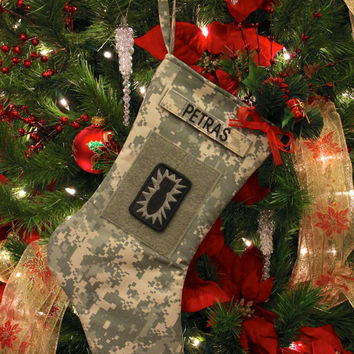 Army ACU or Multicam Christmas Stocking