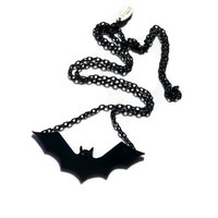 Bat Jewelry,Bat Necklace,Halloween Jewelry ,Halloween Accessories,Lasercut Acrylic