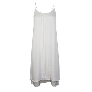 Georgette Pleat Slip Dress