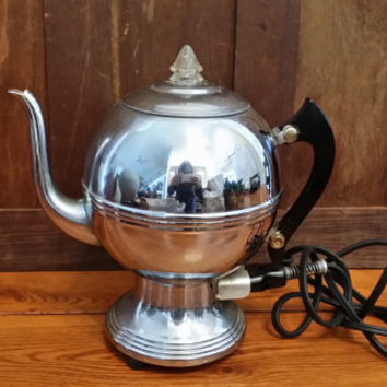 Vintage La Belle Silver Co Electric Coffee Pot Tea Kettle