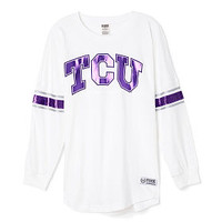 Texas Christian University Limited Edition Varsity Crew - PINK - Victoria's Secret
