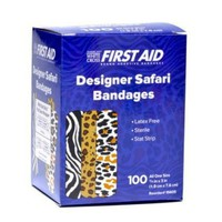 Safari Zebra Leopard Band-Aid Bandages