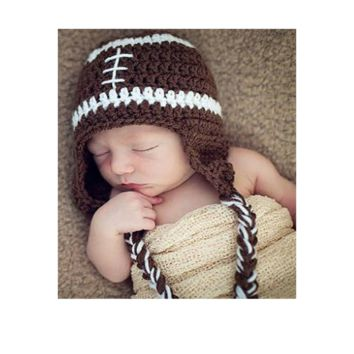 Baby Crochet Knitted Football Beanies Cap