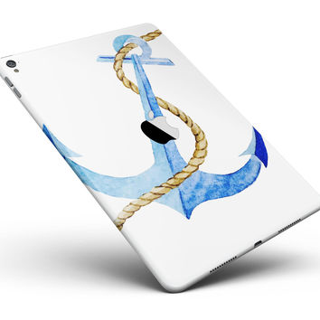 "Painted Blue Summer Anchor Full Body Skin for the iPad Pro (12.9"" or 9.7"" available)"