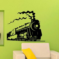 Train Wall Decal Vinyl Sticker Army Locomotive Wall Decals Home Decor Interior Design Art Mural Boys Room Kids Bedroom Dorm Z754