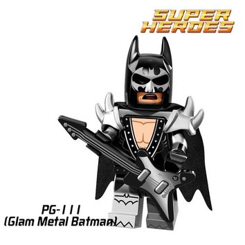 Building Blocks Glam Metal Batman King Tut Orca DC Action Figures Starwars Super Hero Joker Set Bricks Kids DIY Toys Hobbies New
