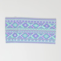 Tribal Art Creation Purple and Mint Beach Towel by Tjc555 | Society6