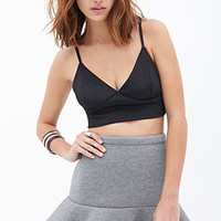 FOREVER 21 Fluted Knit Skirt Heather Grey