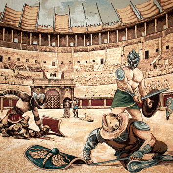 Gladiators Tapestry Wall Hanging