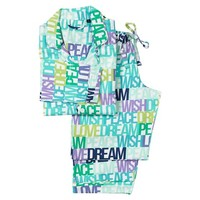 Sweet Dreams Flannel Pajama Set, Dreamy Words