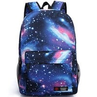 BEIER® XK1 Blue New Harajuku Galaxy Backpack Fashion Student Schoolbag