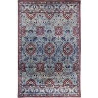 Mykonos Medallion Blue Over Dyed Rug