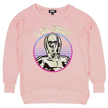Star Wars Little Girls' C-3PO Golden Pullover Top