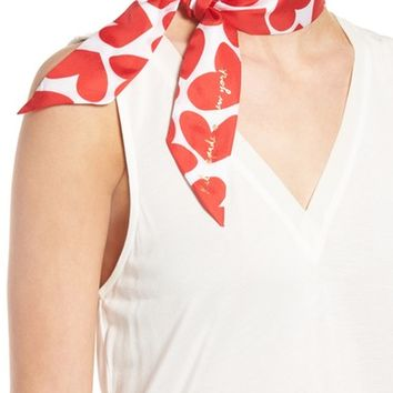 kate spade new york heart to heart skinny silk scarf | Nordstrom