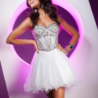 2013 Tony Bowls Short Dress TS11368 at Peaches Boutique