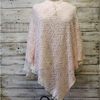 WILLOW knit poncho - pink