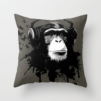 Monkey Business Green Throw Pillow by Nicklas Gustafsson | Society6