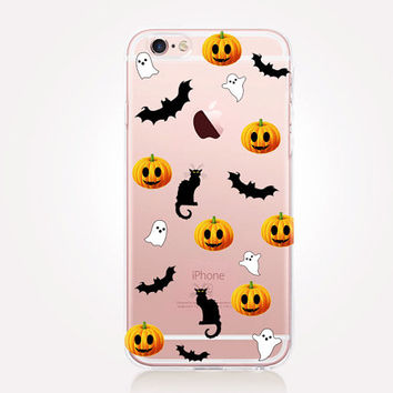Transparent Halloween Phone Case - Transparent Case - Clear Case - Transparent iPhone 6 - Transparent iPhone 5 Samsung S7 - iPhone SE