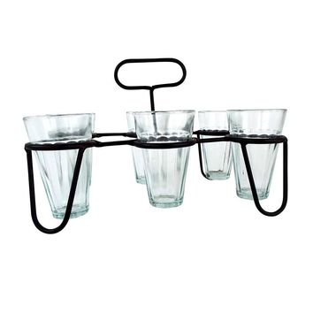 Set of Six Celebration Glasses with Caddy