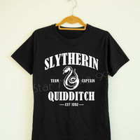 Slytherin Quidditch Shirt Slytherin Shirt Harry Potter Shirt Short Sleeves TShirt Women TShirt Unisex TShirt White Tee Shirt Size S,M,L,XL