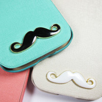 Cute Mustache White Black Samsung Galaxy S 3 Apple by Shopcase