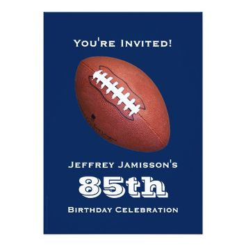 85th Birthday Party Invitation, Football Card