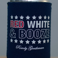 Red, White and Booze Koozie