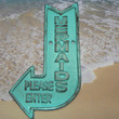 Mermaids Please Enter Here Cast Iron Arrow Pointing Mermaid Entrance Wall Decor Plaque Light Turquoise Shabby Chic Distressed Nautical Beach