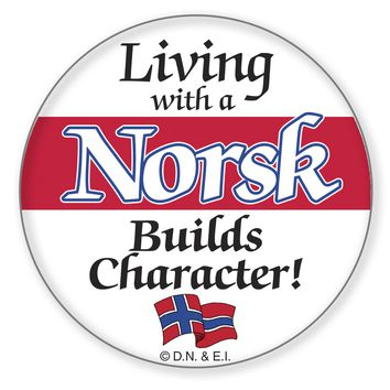 Metal Pin Buttons: Living with a Norsk