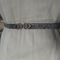 Silver Belt, Metallic Silver belt, Glitter Belt, Bridal Belt, Skinny Belt, Bridesmaid Gold Sash,Flower Girl Belt, Bridesmaid Belt