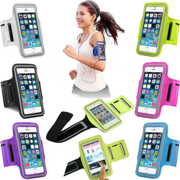 Sports Running Cover for iPhone 6 Gym Arm Band Case For iphone 5 5S SE 5C 6 6S 7 Plus Sport Cover Bag Phone Cases Coque Fundas
