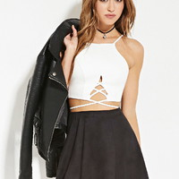 Faux Suede Skater Skirt