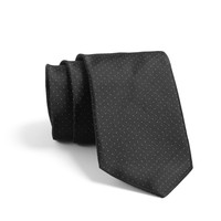 Crosby Pindot Tie In Black