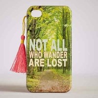 NEW Natural Life iPhone 4 & 4S Phone Case/ Cover-Not All Who Wander Are Lost