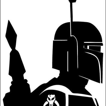 Star Wars Boba Fett vinil sticker decal for car window laptop wall room