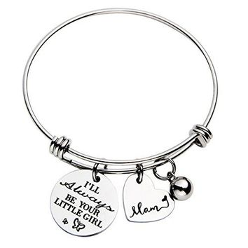 omodofo Inspirational Messaged Cuff Bracelet Bangle for Mother Grandmother Daughter Mothers Day Gift